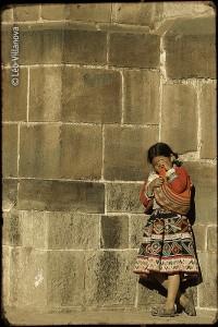 Cusco - cholita chorando