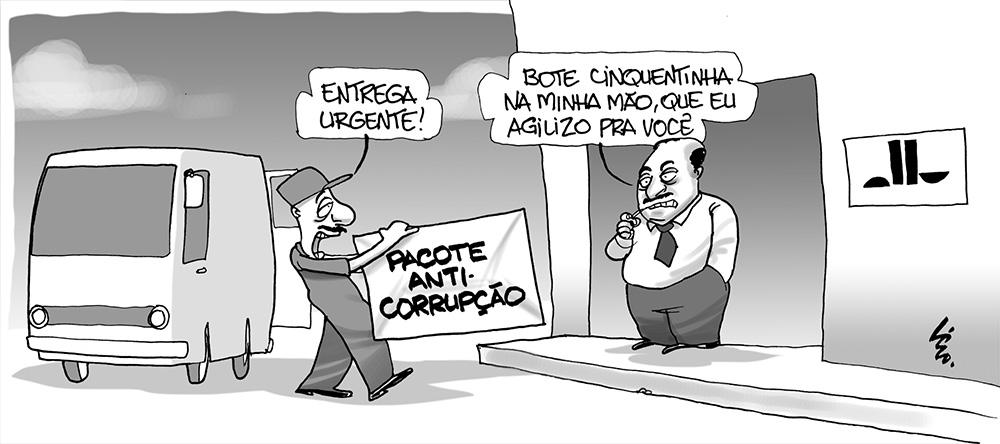 Resultado de imagem para pacote anticorrupção charges