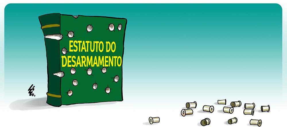 Resultado de imagem para lei do desarmamento charges
